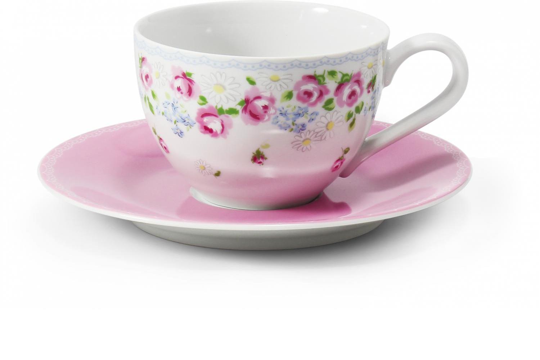 Tasse mit Untertasse 0,02l - RoseLine