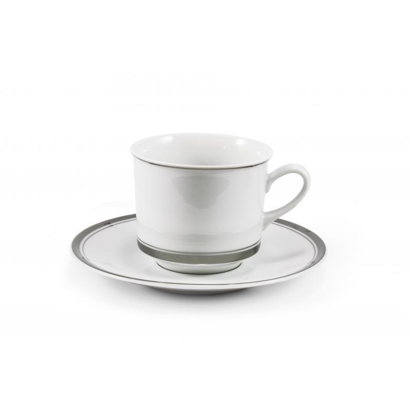 Cup and saucer- Sabina with a platinum band