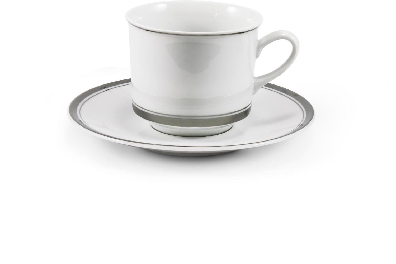 Tasse mit Untertasse - Sabina mit Platinband