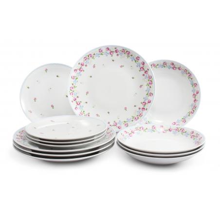 Plate set 12-piece RoseLine