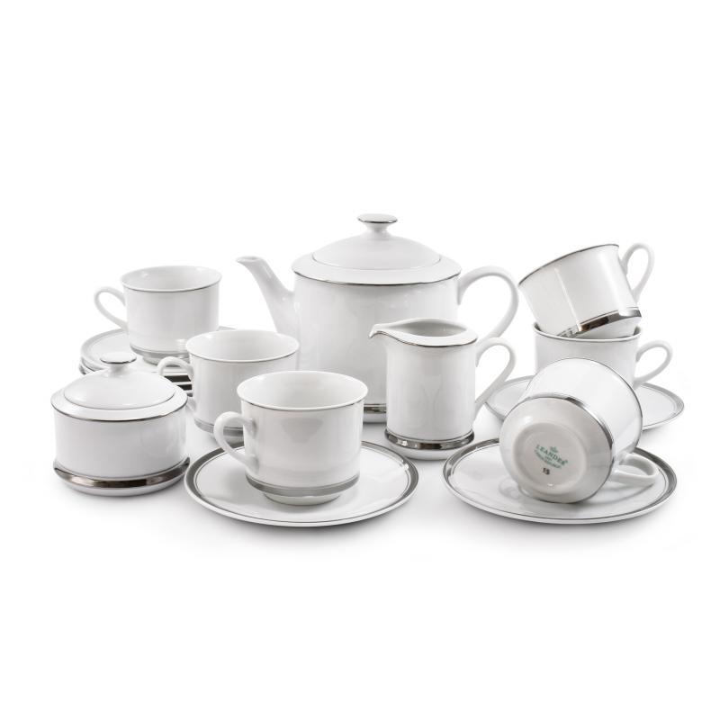 Tea set 15-piece - Sabina with a platinum band