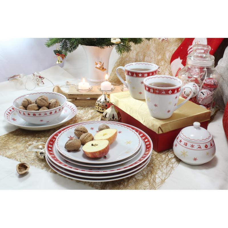 Talířová sada 12 dílná Vánoční snění
