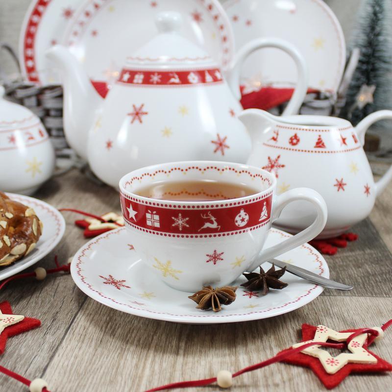 Čajová souprava 11 dílná Vánoční snění