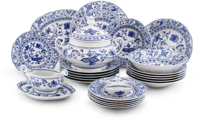 Dinner set 25-piece - Blue onion china