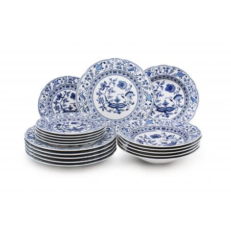 Plate set 18-piece - Blue...