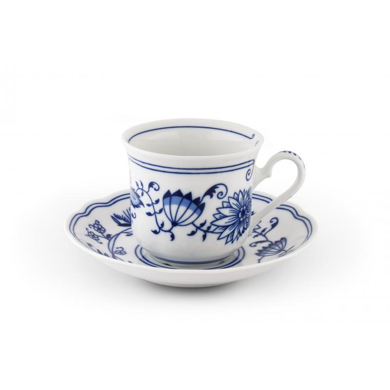 Tasse mit Untertasse 0,2l Zwiebelmuster