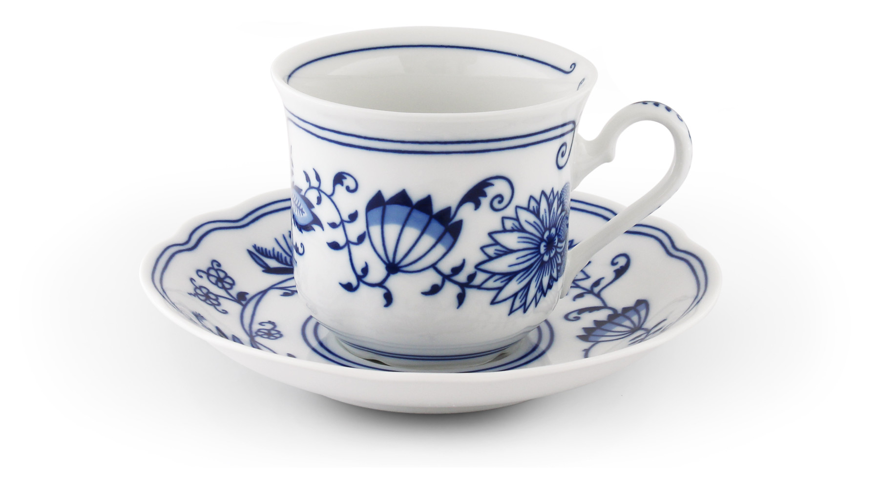 Cup and saucer 0,20l Blue onion china