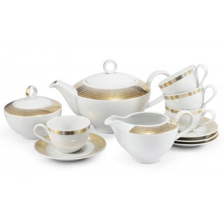 Tea set 11-piece Golden...