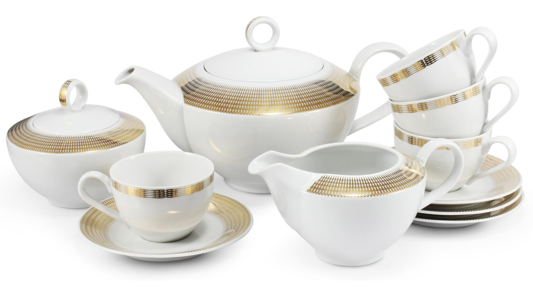 Teeservice 11-teilig Goldene Engelsflügel