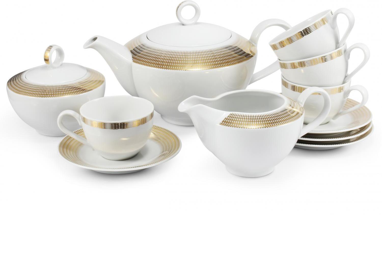Tea set 11-piece Golden angel wings