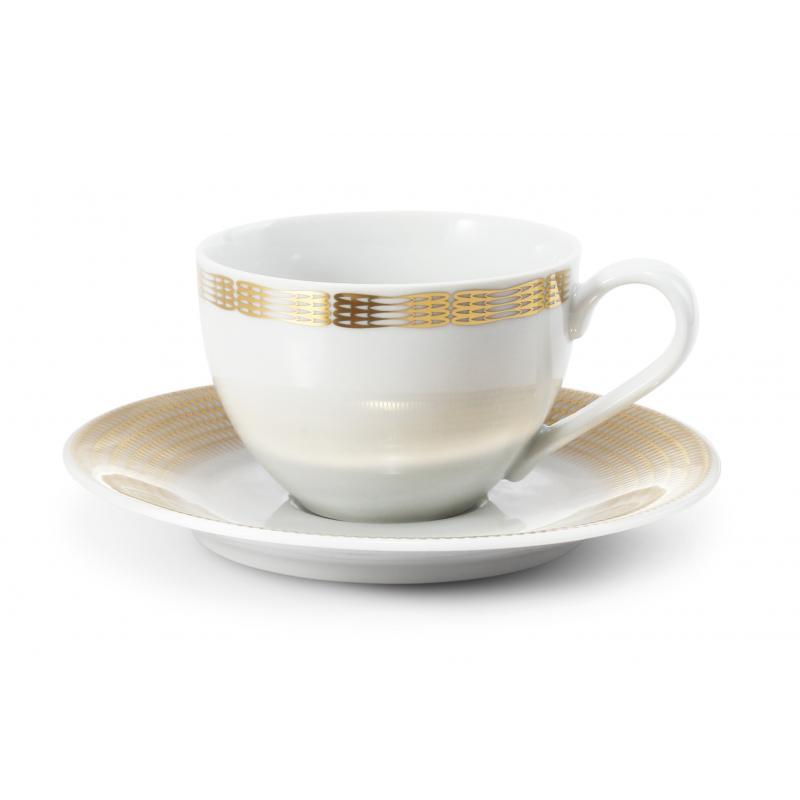 Tasse mit Untertasse Goldene Engelsflügel