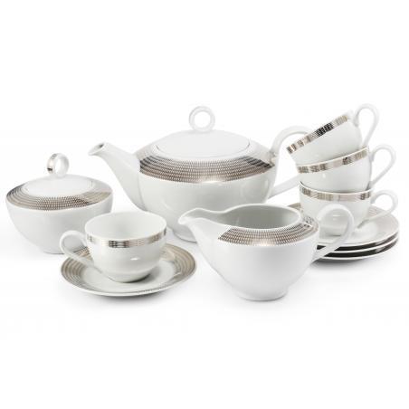 Tea set 11-piece Silver...