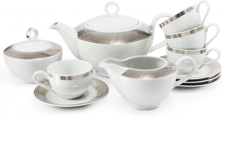 Teeservice 11-teilig Silberne Engelsflügel