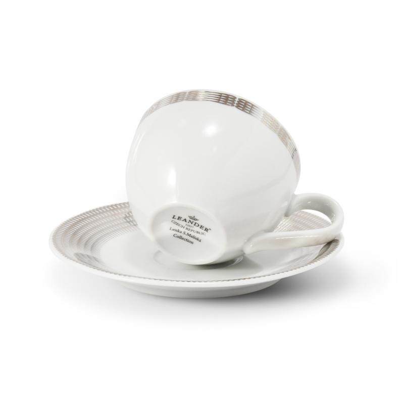 Tasse mit Untertasse 0,20 l Silberne Engelsflügel