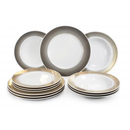 Plate set 12-piece Golden...