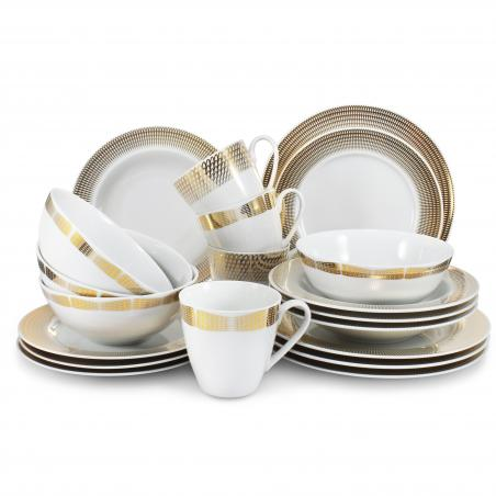 Dinner set 20-piece Golden...