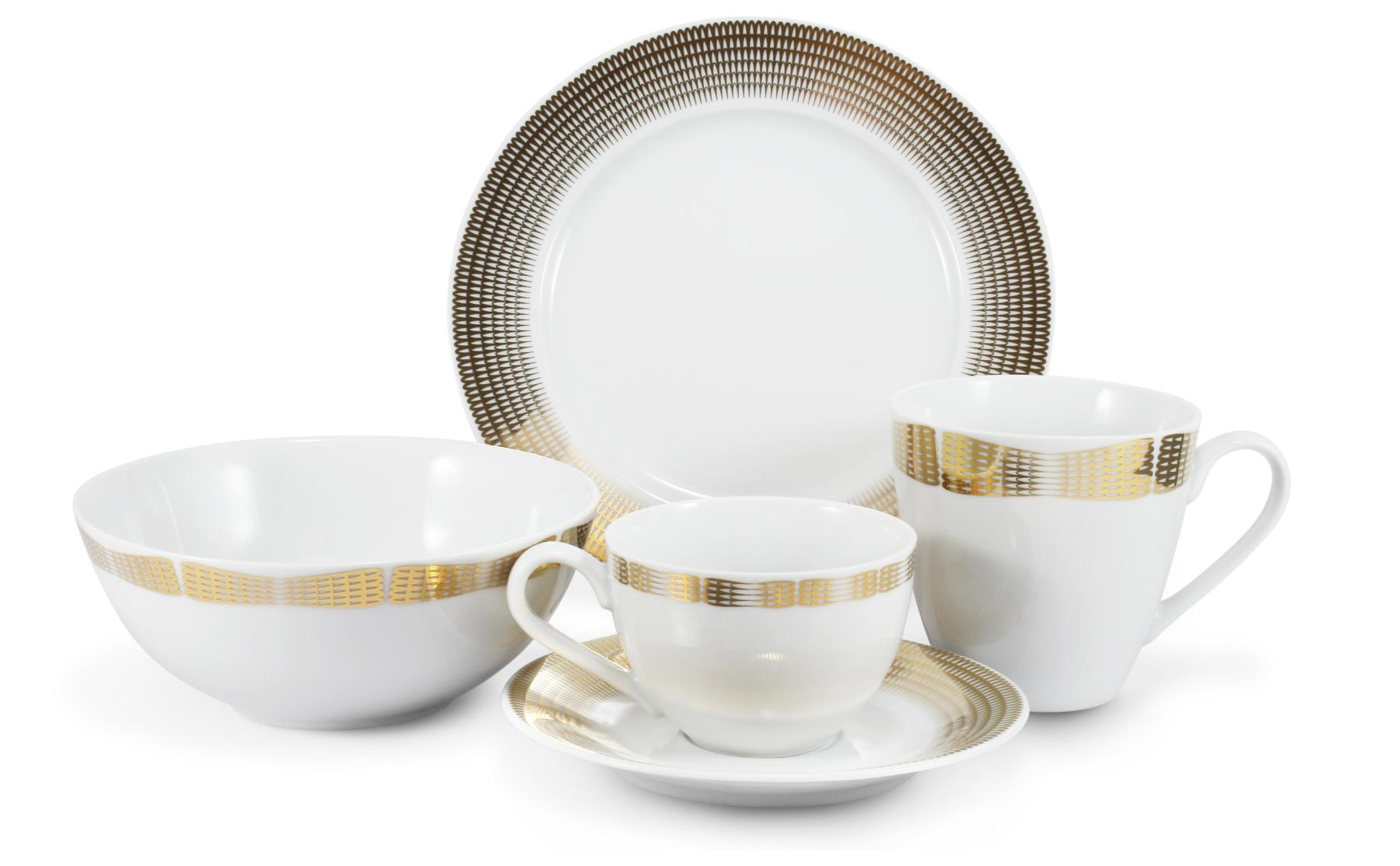 Frühstückservice 5-teilig Goldene Engelsflügel Var.B