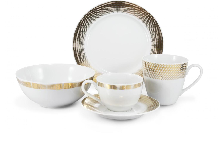 Frühstückservice 5-teilig Goldene Engelsflügel Var.A