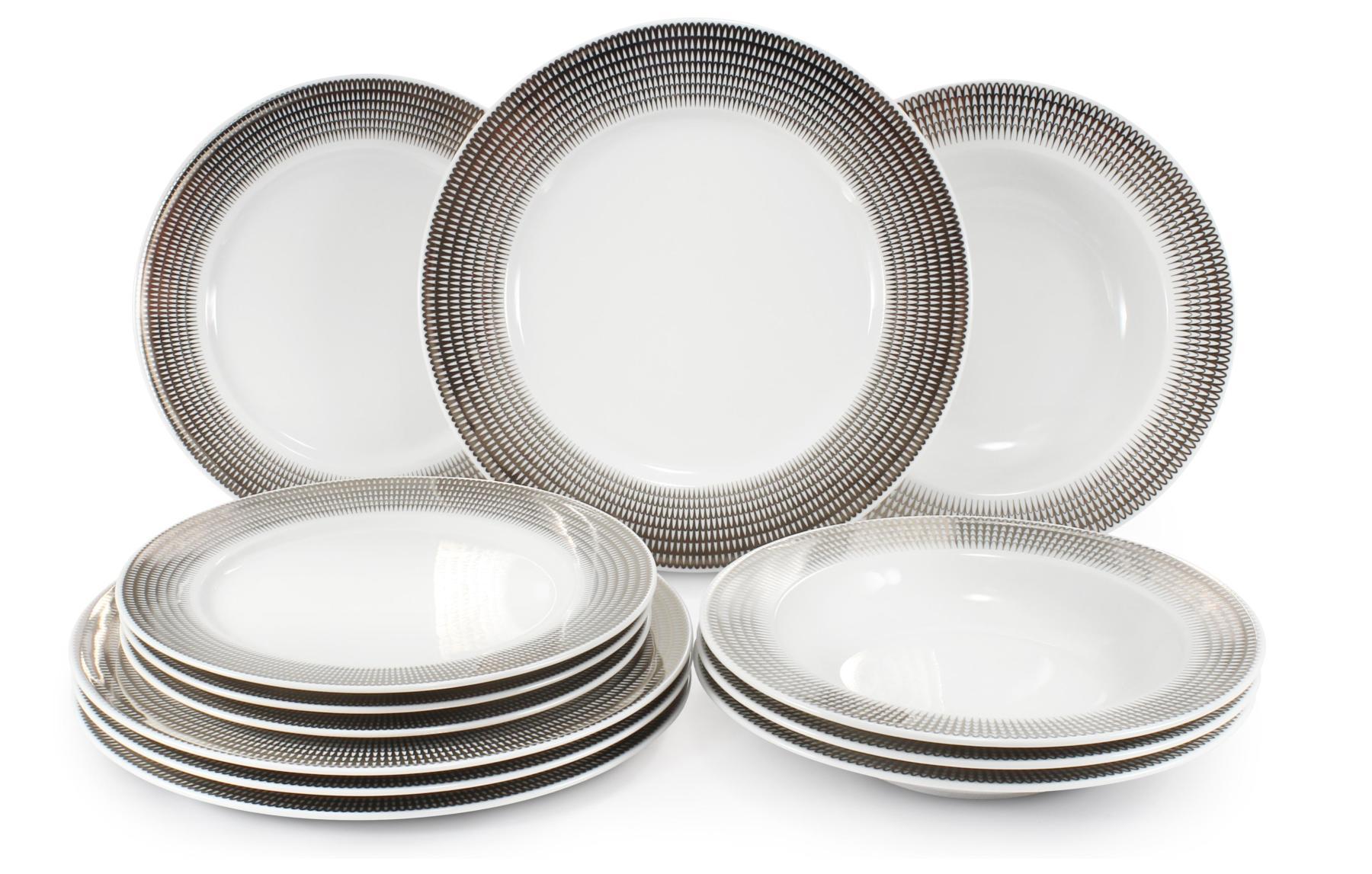 Plate set 12-piece Silver angel wings