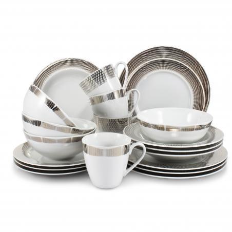 Dinner set 20-piece Silver...
