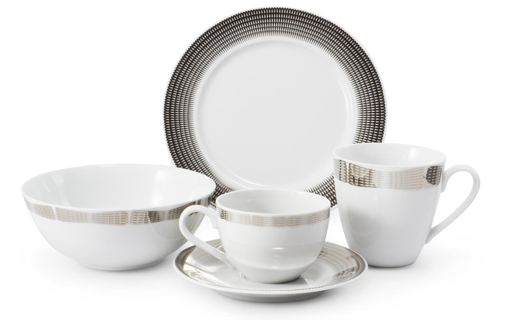 Breakfast set 5-piece Silver angel wings ver.A