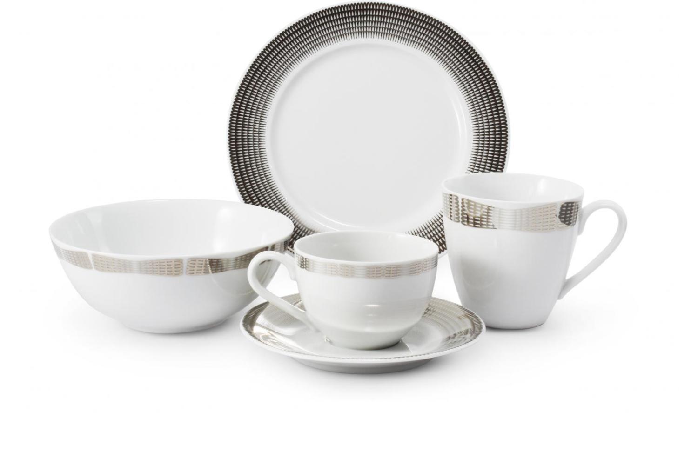Frühstückservice 5-teilig Silberne Engelsflügel Var.A