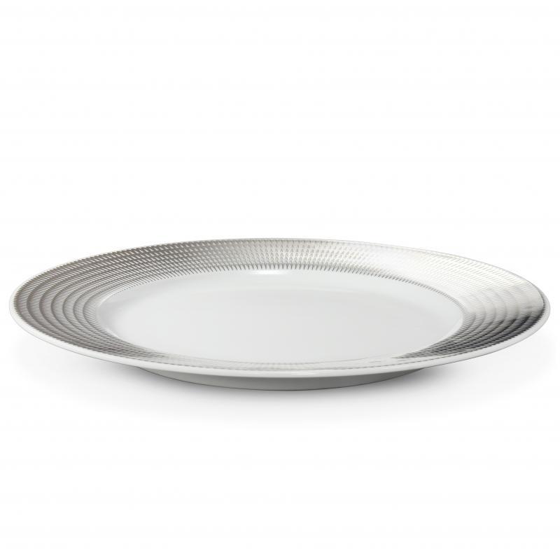Mělký talíř 25 cm Stříbrná andělská křídla