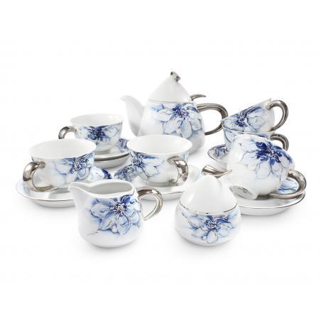 Tea service 15-piece cobalt...