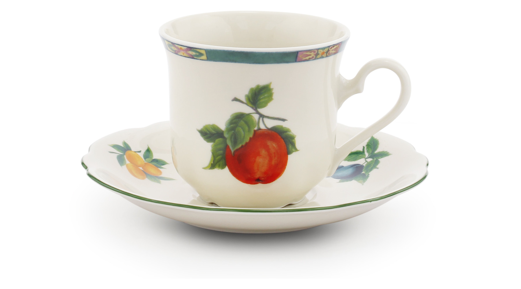 Cup and saucer Fruit
