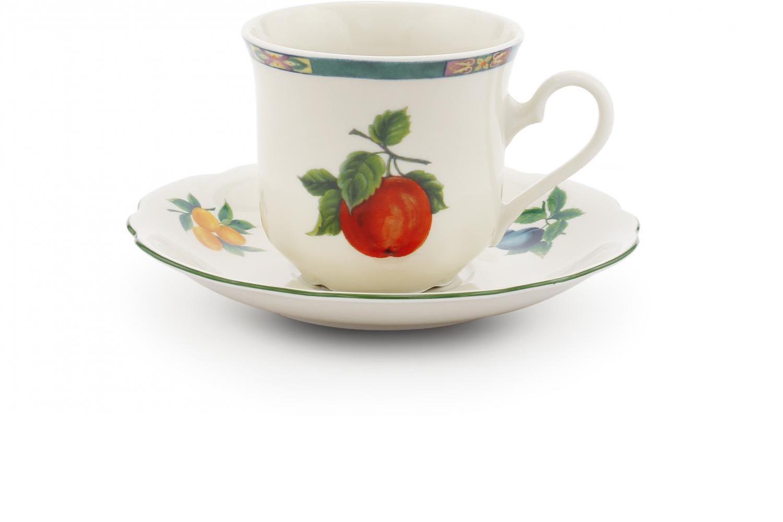 Tasse mit Untertasse Obst