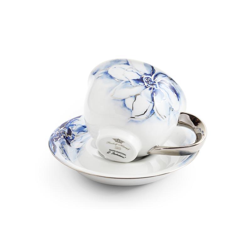 Cup and saucer 0.30l cobalt blue