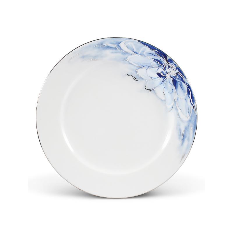 Plate flat 27cm cobalt blue