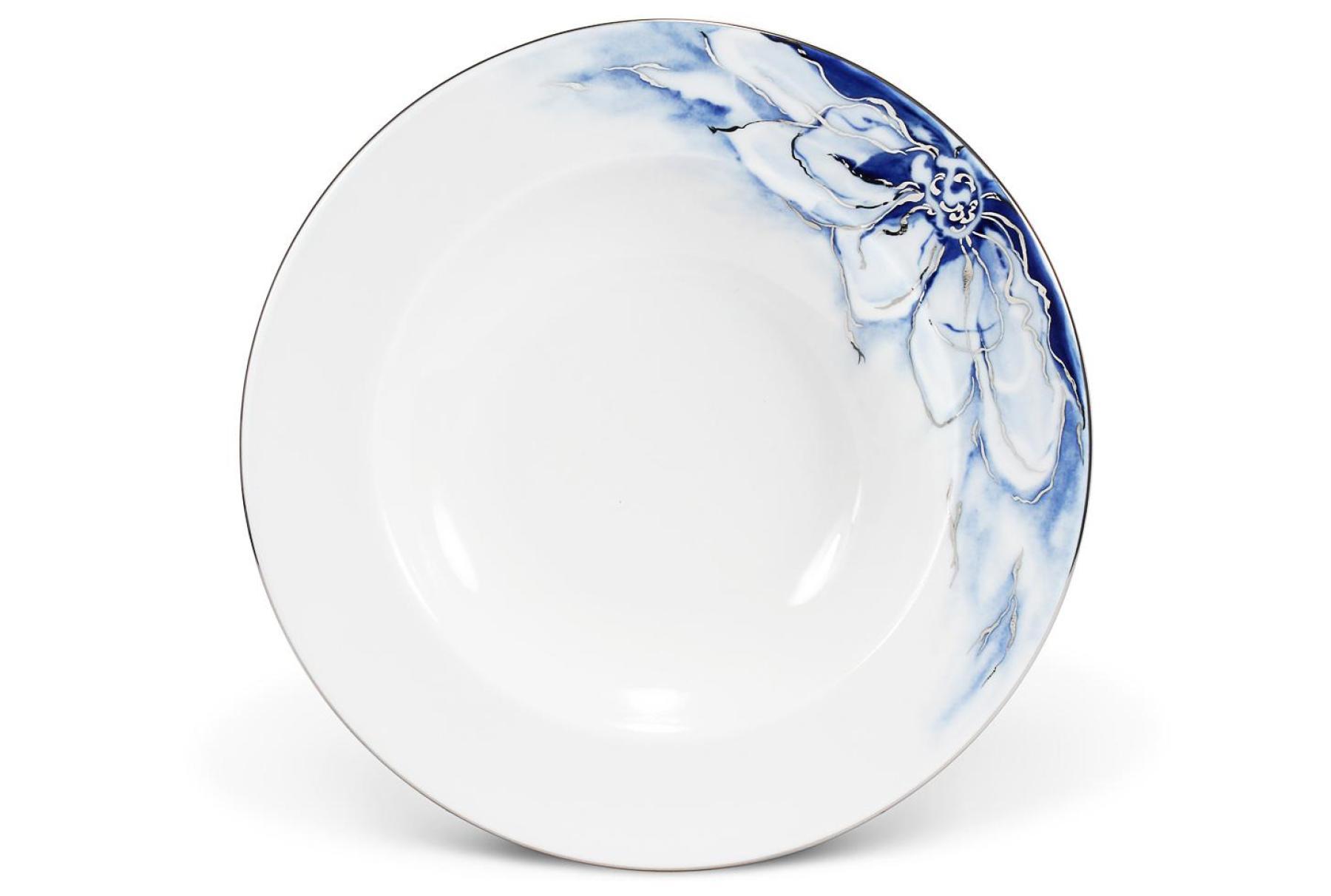Hluboký talíř 22,5 cm Kobaltová květina