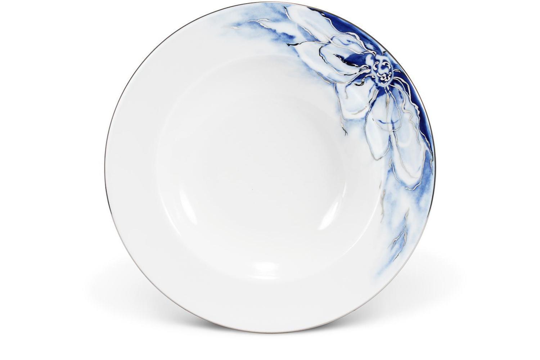 Hluboký talíř ø22,5cm Kobaltová květina
