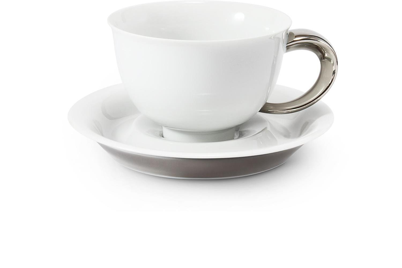 Cup and saucer 0.30l Platinum Celt