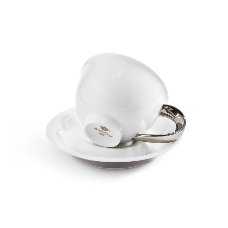 Tasse mit Untertasse 0,30l Platin Kelt