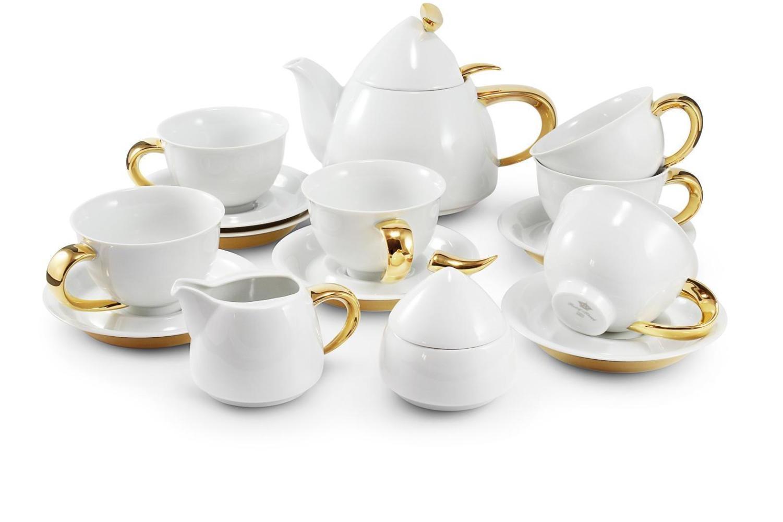 Čajová souprava 15-ti dílná Zlatý Kelt