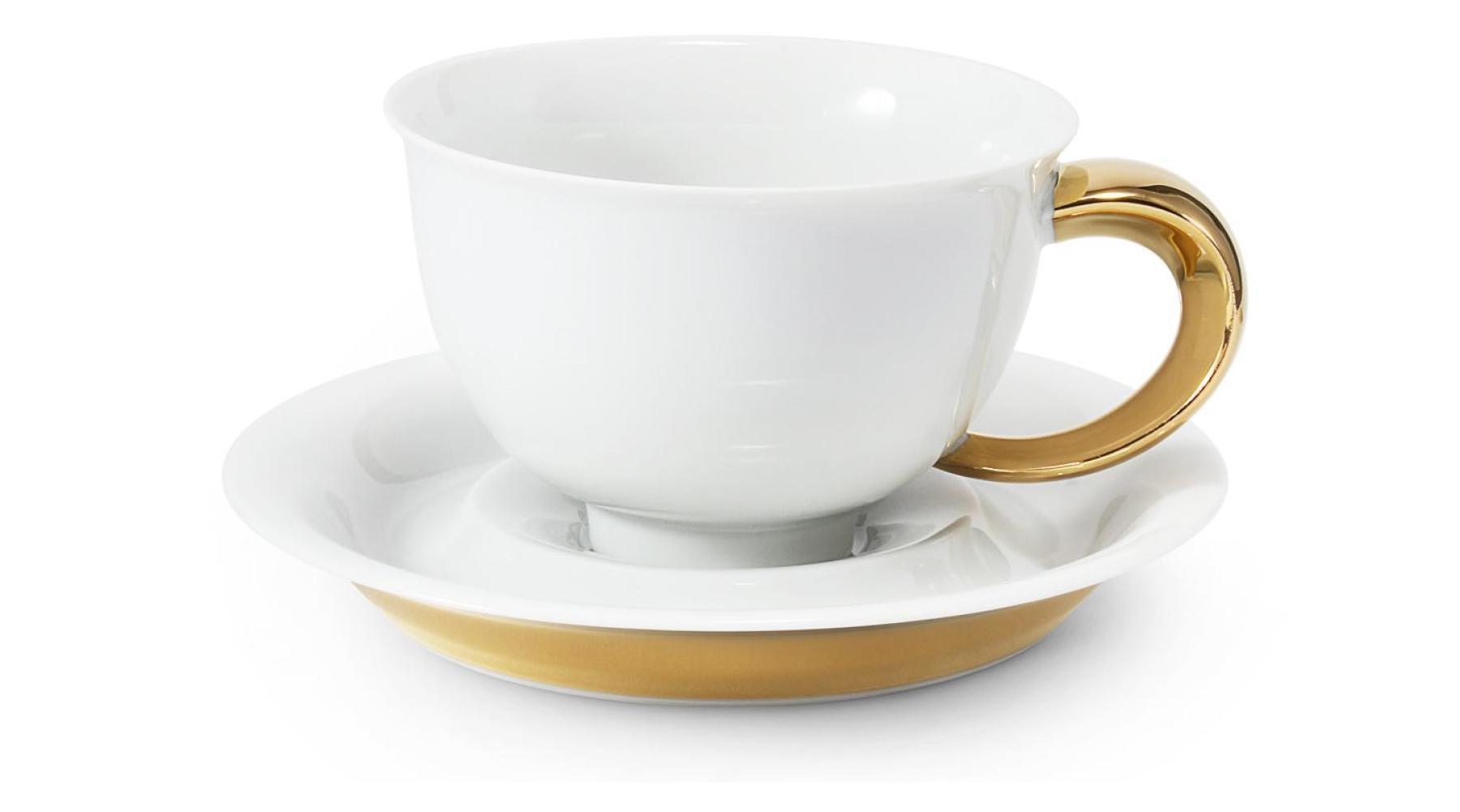 Tasse mit Untertasse 0,30l Golden Kelt