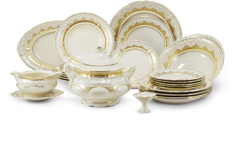 Dinner set 25-piece Wedding sonata ivory bone