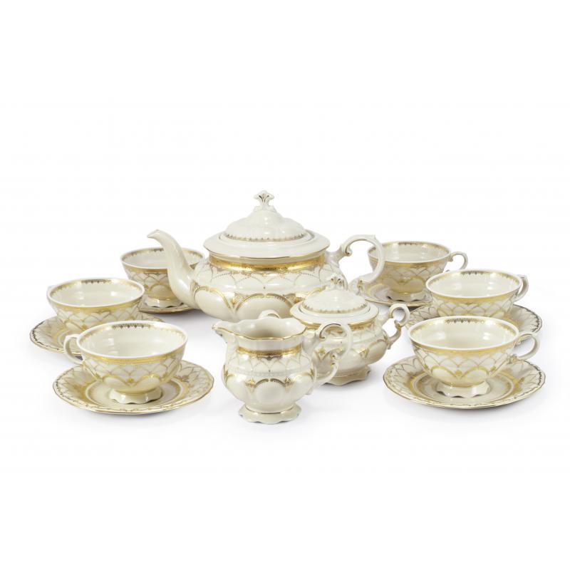 Teeservice 15-teiliges Hochzeitsonate Elfenbein