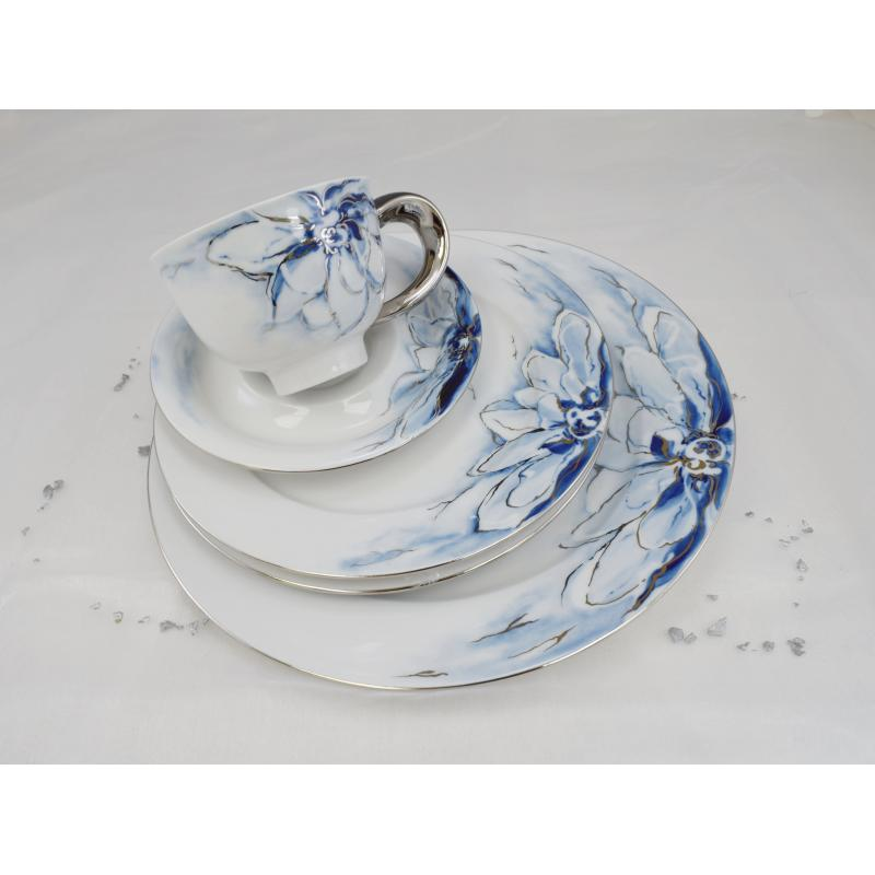 Plate deep 22.5cm cobalt blue