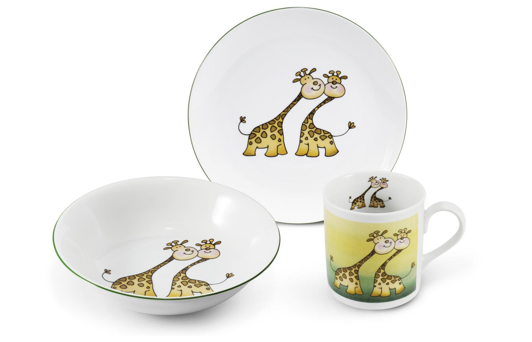 Kinderservice 3-teilig Giraffe