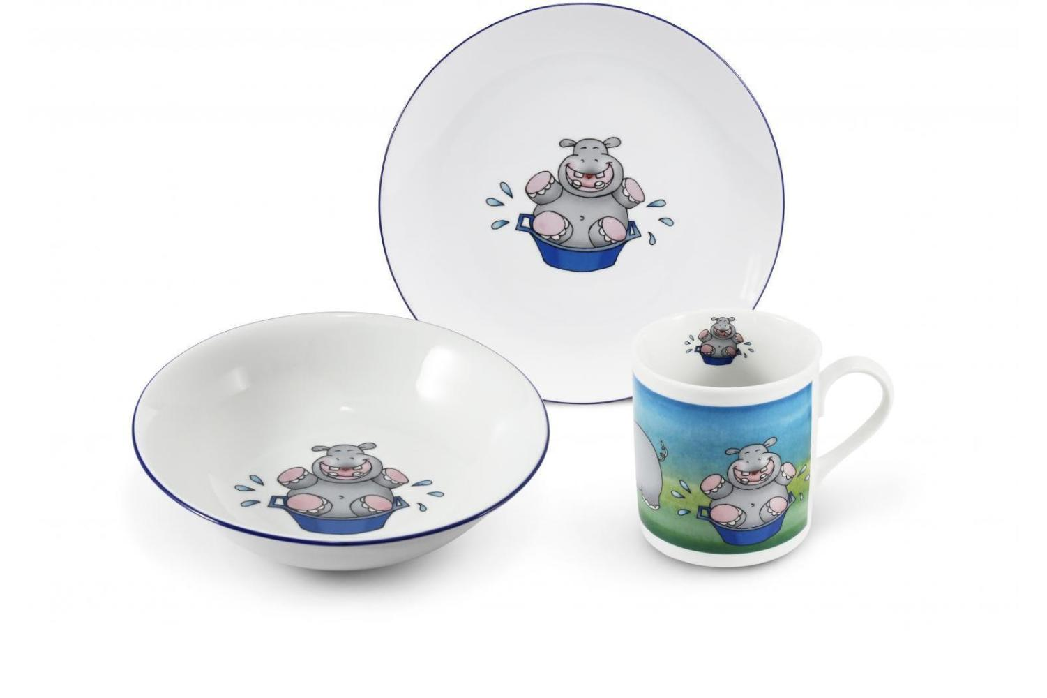 Kids set 3-piece Hippo