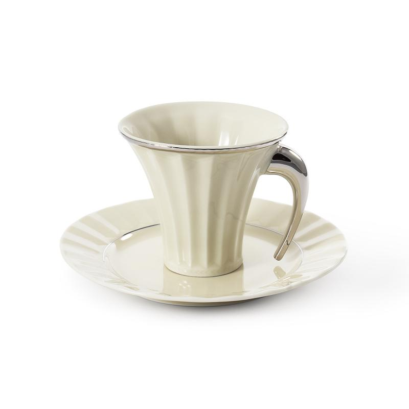 Cup and saucer 0.20l Egypt platinum