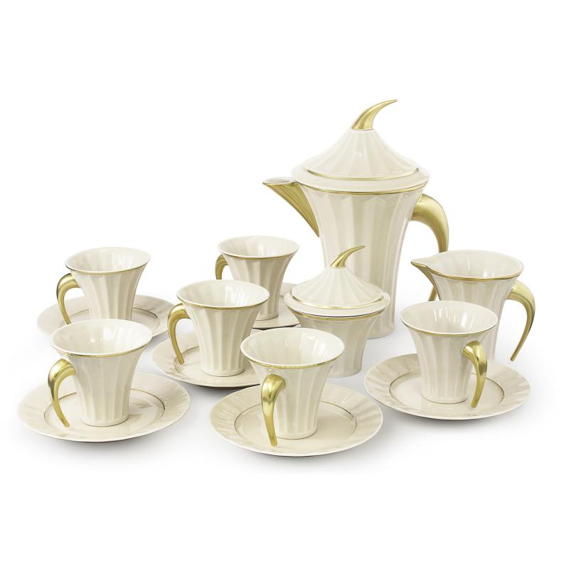 Čajová souprava 15 dílná Egypt zlatý