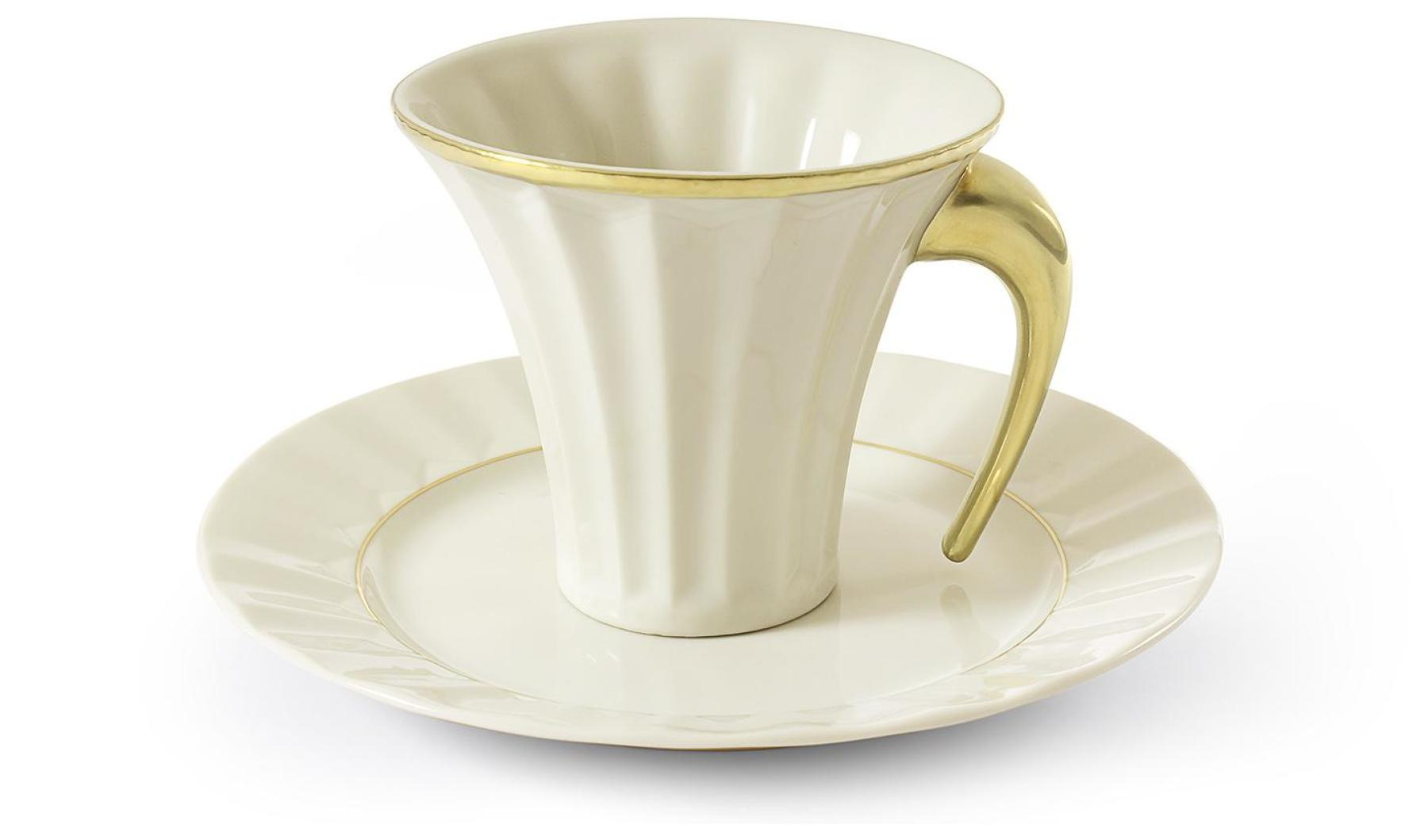 Cup and saucer 0.20l Egypt gold