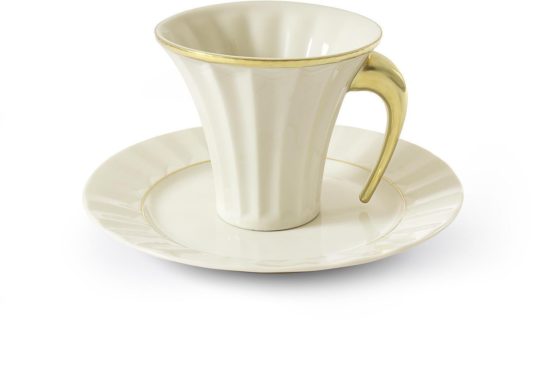 Tasse mit Untertasse 0,20l Egypt Gold
