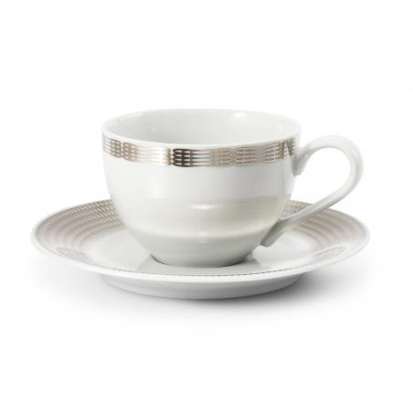Cup and saucer Silver angel...