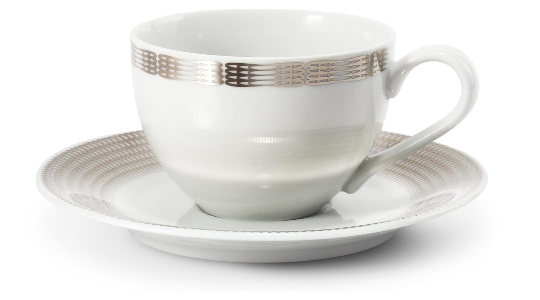 Cup and saucer Silver angel wings