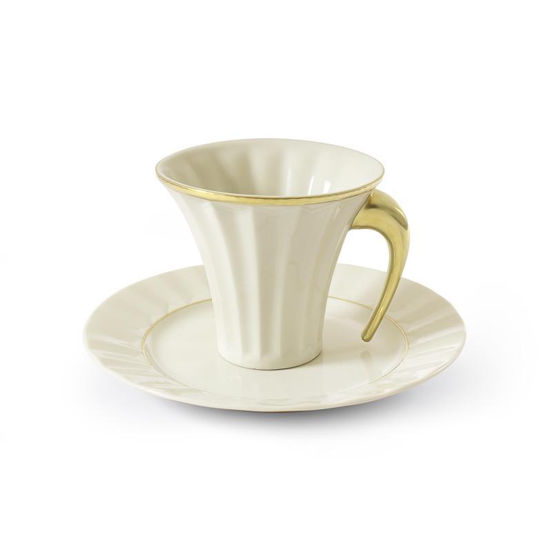 Tea set 15-piece Egypt gold